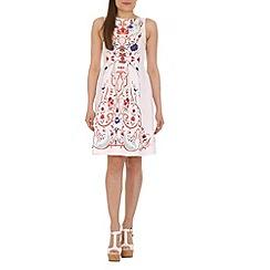 Amaya - Cream floral print dress
