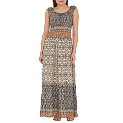 Amaya - Multicoloured tribal print maxi dress