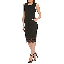 Amaya - Black sleeveless lace dress