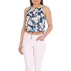 Madam Rage - Lily floral crop top