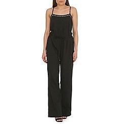 Madam Rage - Black strappy aztec jumpsuit