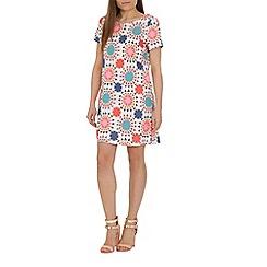 Cutie - Cream geometric shapes dress