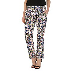 Cutie - Blue art deco print trousers