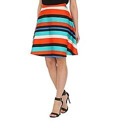 Cutie - Red colour stripe skirt