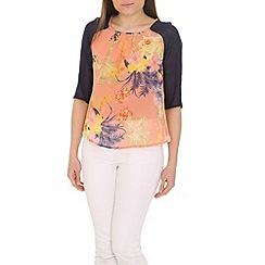 Cutie - Pink floral print blouse