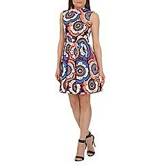 Closet - Multicoloured closet retro v-back collar dress