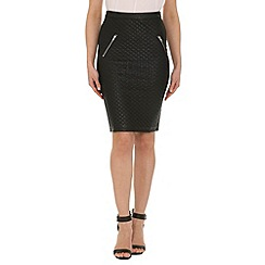 AS by Anna Smith - Black pu pencil skirt with zips