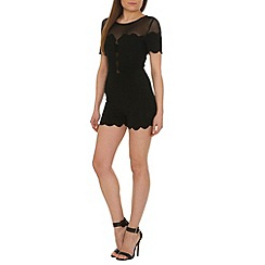 AS by Anna Smith - Black scallop hem playsuit