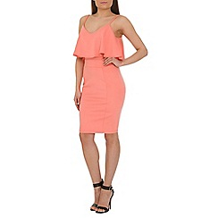 AS by Anna Smith - Pale peach fitted pencil dress