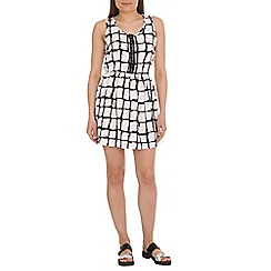 Madam Rage - Off white cut out tile dress