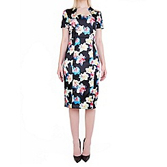 Wolf & Whistle - Multicoloured daffodil print pencil dress