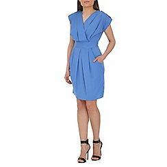 Closet - Blue cross over tulip dress