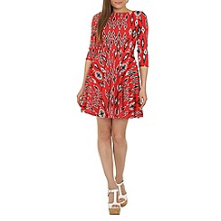 Closet - Red urban aztec skater dress