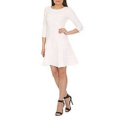 Closet - Cream a-line skirt dress