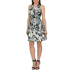 Closet - Multi floral skater dress