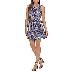 Tenki - Blue patterned dress