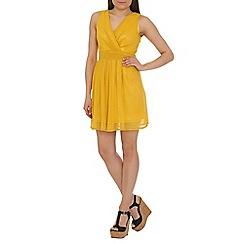 Tenki - Mustard tie back dress