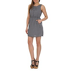 Tenki - Grey geo print dress