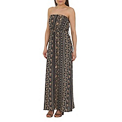 Tenki - Blue tribal print maxi dress