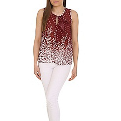 Tenki - Maroon polka and flower top