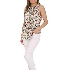 Tenki - Cream patterned top
