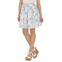Tenki - Blue flower print skirt