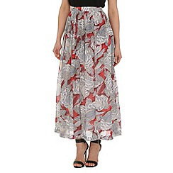 Tenki - Red patterned maxi skirt