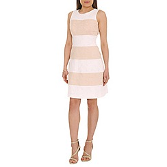 Belle by Badgley Mischka - Ivory colour blocked jacquard dress
