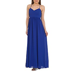 Belle by Badgley Mischka - Blue x-back maxi dress