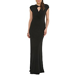Belle by Badgley Mischka - Black keyhole neckline gown