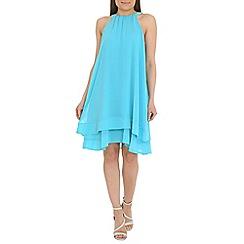 Belle by Badgley Mischka - Blue halter neckline dress