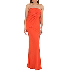 Belle by Badgley Mischka - Orange strapless gown