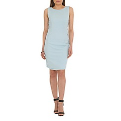 Belle by Badgley Mischka - Blue cap sleeve sheath dress