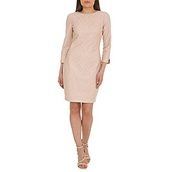 Belle by Badgley Mischka - Gold lace cocktail dress