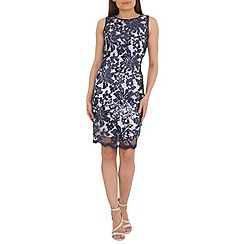 Belle by Badgley Mischka - Navy sequin lace shift dress