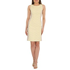 Belle by Badgley Mischka - Natural jacquard sheath dress
