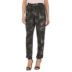 Voulez Vous - Black palm leaf trousers