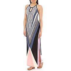 Voulez Vous - Pink aztec print maxi dress