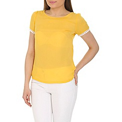 Cutie - Yellow plain coloured top