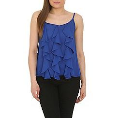 Cutie - Blue frill detail vest top
