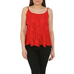 Cutie - Red frill detail vest top