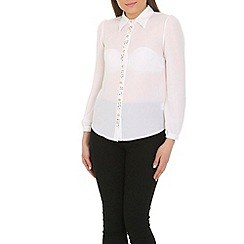 Cutie - White pearls detail shirt