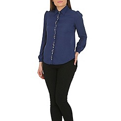 Cutie - Navy pearls detail shirt