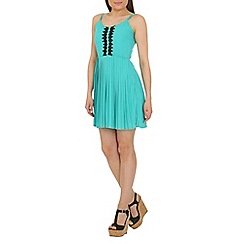 Cutie - Light green spaghetti strapped dress