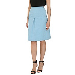 Cutie - Blue pleat front skirt