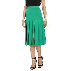 Cutie - Green pleated midi skirt