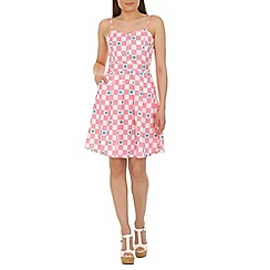 Cutie - Pink girly checkered print dress