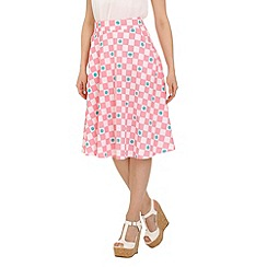 Cutie - Pink checkered print basic skirt