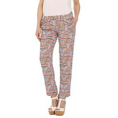 Cutie - Pink tribal printed trousers