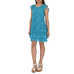 Jolie Moi - Dark turquoise crochet a-line lace dress